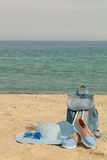 Blurry photo - sea concept. Relax on the beach. Selective focus Royalty Free Stock Photo