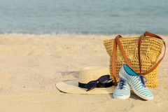 Blurry photo - sea concept. Relax on the beach. Selective focus Stock Photo