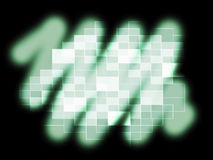 Blurry Pixel Pattern Shows Glowing Blurry Or Reflection Royalty Free Stock Image