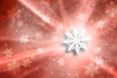 Blurry red color snowflake Christmas illustration background Stock Photos