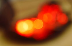 Blurry red electric light bulb background and texture Stock Photo