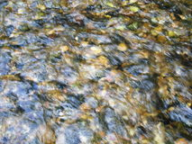 Blurry river flow Stock Images