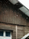 BLURRY SHOT OF RAINDROPS Stock Images