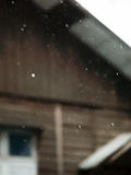 BLURRY SHOT OF RAINDROPS Royalty Free Stock Photography