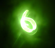 Blurry Six. Abstract six made of light movement Royalty Free Stock Photos