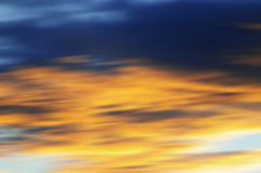 Blurry sky. Motion effect. Stock Image