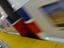 Blurry Skyte at Granville - Roland in Vancouver (001) royalty free stock photos