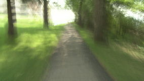 Blurry slow shutter pathway Stock Photos