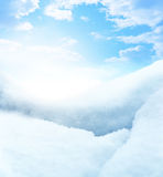 Blurry snow background Stock Image