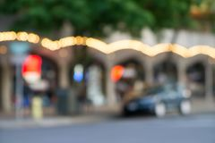 Blurry soft focus of city streets in spokane washington royalty free stock photos