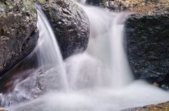 Blurry soft little water fall Royalty Free Stock Photography