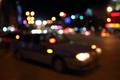 Blurry streetlights Royalty Free Stock Photography