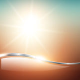 Blurry sunny scene. With sunset blur sky, vector illustration Stock Photography