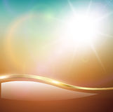 Blurry sunny scene. With sunset blur sky, vector illustration Royalty Free Stock Photo