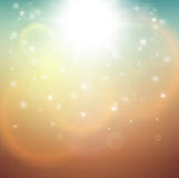 Blurry sunny scene. With sunset blur sky, vector illustration Stock Images