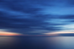 Blurry sunset in blue Stock Images