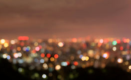 Blurry Taipei Night Cityscape. Taiwan. Background. Stock Image