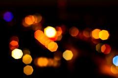 Blurry traffic lights Royalty Free Stock Image