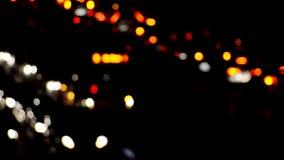 Blurry traffic lights stock video