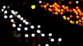 Blurry traffic lights stock footage