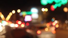 Blurry traffic lights stock video footage