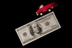 Blurry truck on money Stock Photos
