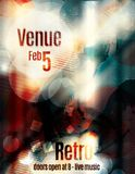 Blurry and unique grunge flyer template. Awesome blurred abstract flyer template with glowing light effects Royalty Free Stock Photo