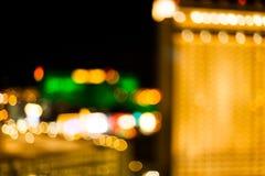 Blurry Vegas Bokeh Stock Images
