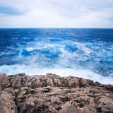 Blurry waves dramatic seascape Stock Images