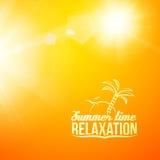 Blurry yellow beautiful summer illustration. Royalty Free Stock Photo