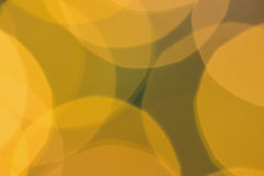 Blurry yellow christmas light circles Royalty Free Stock Image