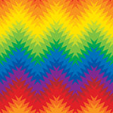 Blurry ZigZag. Seamless  pattern of zigzags within zigzags in the spectrum of colors Royalty Free Stock Photography