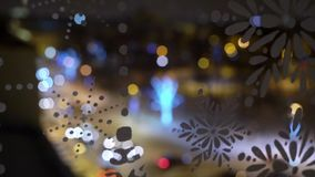 Blurs and bokeh of city street with cars traffic