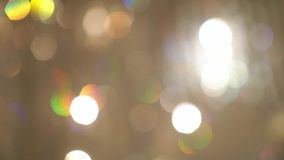 Blurs bokeh. Decorated roof indoors with light
