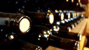 Blurs in wine cellar Stock Photography