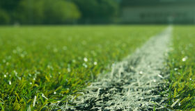 blury的足球场 免版税库存图片