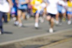 抽象blury马拉松长跑 免版税库存照片