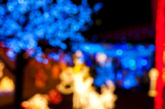 Blury christmas lights. Blury in purpose decoration christmas lights Royalty Free Stock Photography