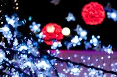 Blury röda och vita ljus Royaltyfri Fotografi