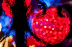 Blury rött ljusboll Royaltyfri Bild
