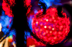 Blury red light ball. Blury white lights_red bright balls behind Royalty Free Stock Image