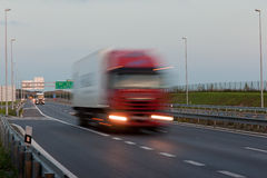 Truck at highway Royalty Free Stock Photography