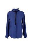 Blusa azul con los diamantes artificiales Imagenes de archivo