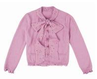 Blusa cor-de-rosa isolada no branco imagens de stock royalty free