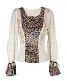 Blusa del leopardo imagen de archivo