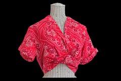 Blusa do midriff do Bandana no mannequin Fotografia de Stock