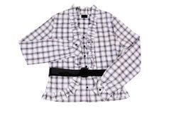 Blusa elegante, con estilo en un blanco. Imágenes de archivo libres de regalías