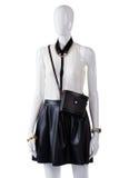 Blusa que lleva del maniquí con el bolso Fotografía de archivo