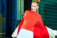 Blusa roja Imagenes de archivo