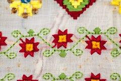 Blusa tradicional rumana - texturas y adornos Fotografía de archivo libre de regalías